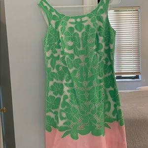 Classic Green & Pink Lilly Pulitzer Shift Dress